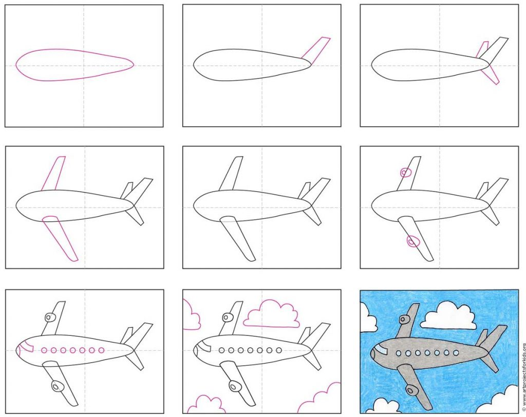 How to Draw an Airplane · Art Projects for Kids