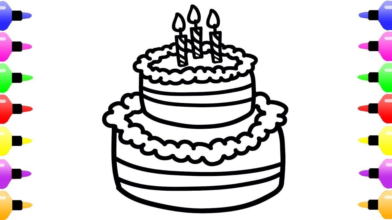 20+ Pretty Image of How To Draw A Birthday Cake ...