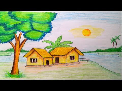 Learn Simple Pencil Landscape Art For Beginners | Step by ...