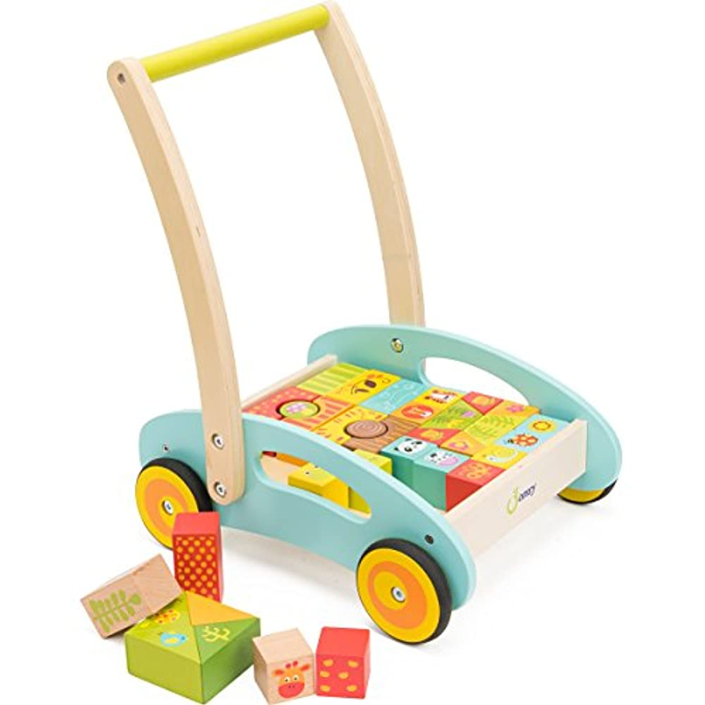 Push & Pull Toys Cossy Wooden Baby Learning Walker Toddler ...