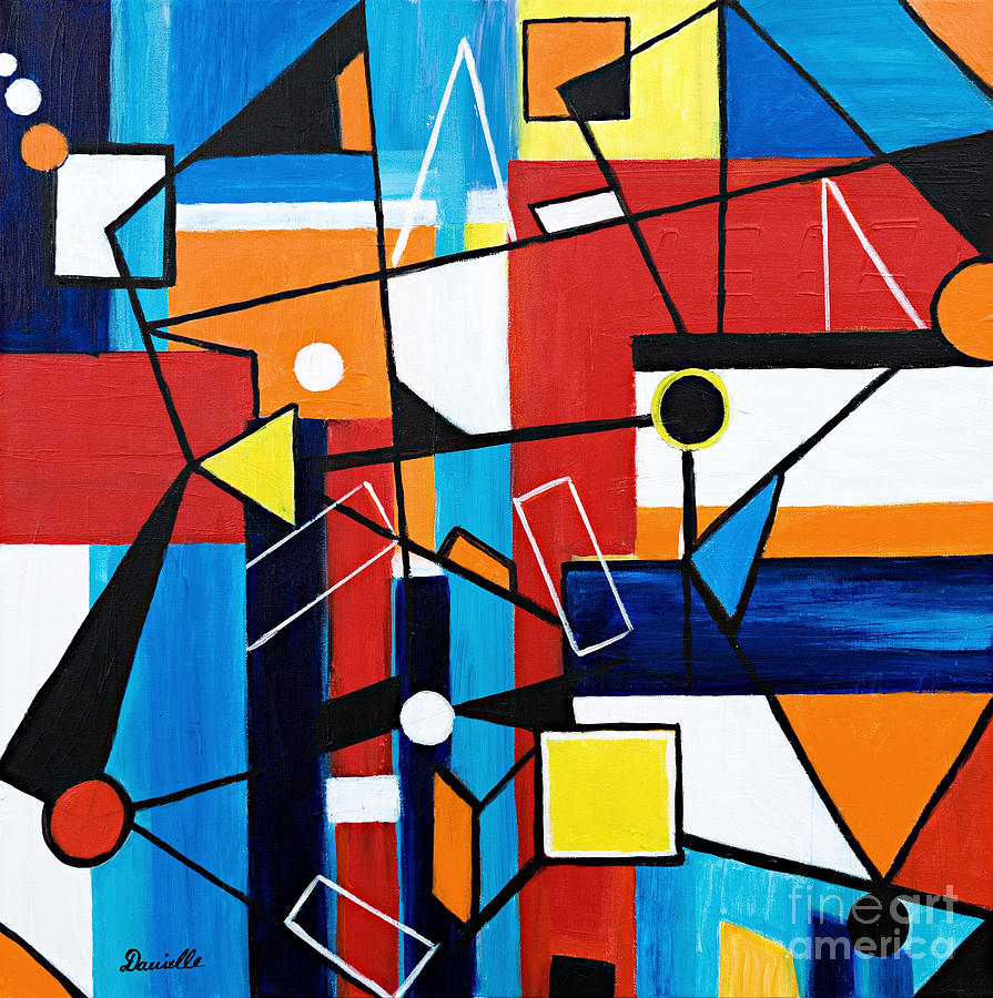 Geometric Painting by Art by Danielle