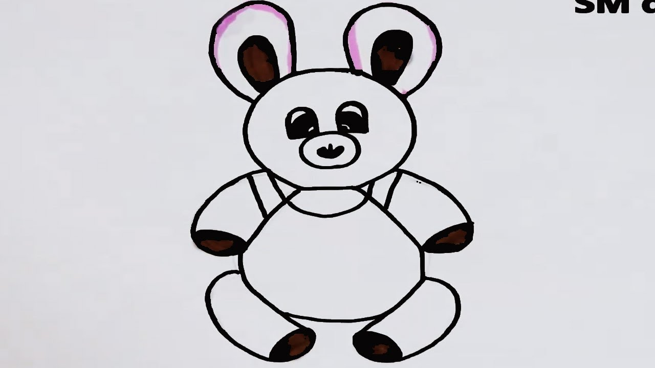 how to draw teddy bear in very easy method-drawing toys ...